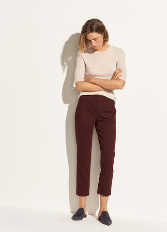 Coin Pocket Cotton Chino in Black Cherry
