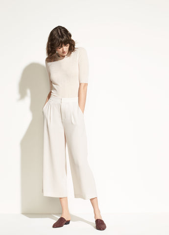High-Waist Culotte in Sandstone