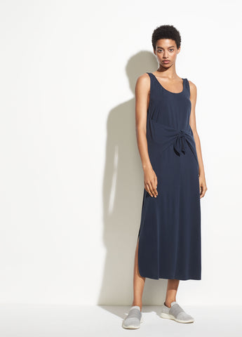 Sleeveless Wrap Dress in Coastal Blue