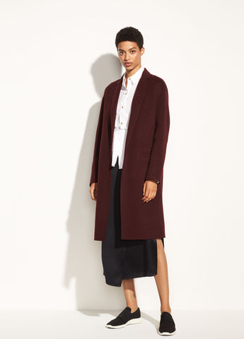 Modern Coat in Black Cherry