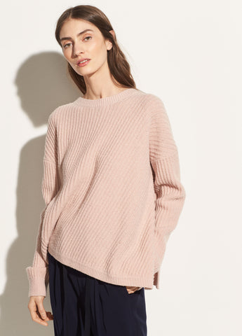 Side Slit Crew in Blush
