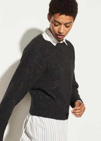 Cropped Boatneck in Charcoal