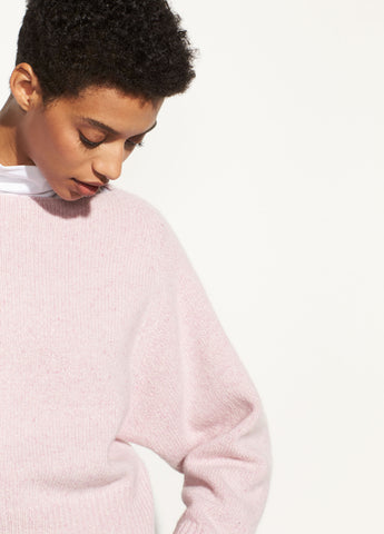 Cropped Boatneck in Pink Champagne