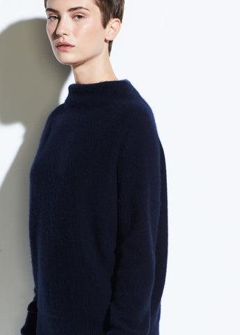 Funnel Neck Pullover in Coastal Blue