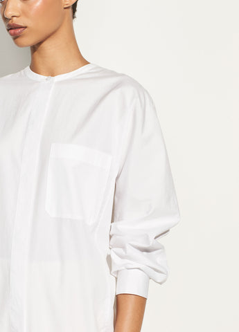 Poplin Tunic in Optic White