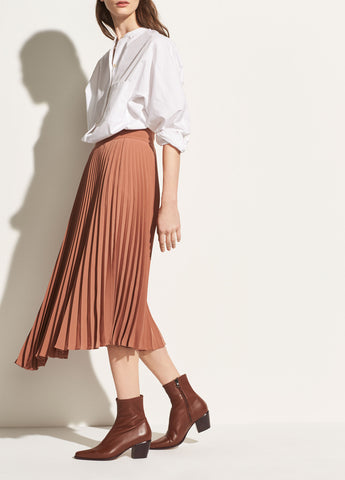 Drape Pleated Skirt in Vintage Rose