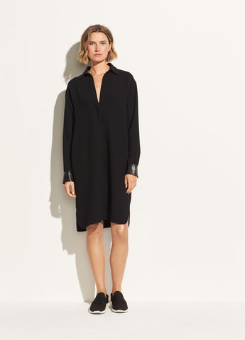 Cady Shirt Dress in Black