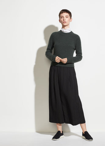 Bar Stripe Culotte in Black