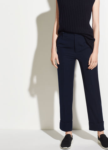 Cuffed Coin Pocket Trouser in Navy