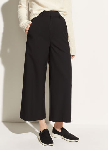 High-Rise Crop Pant in Black