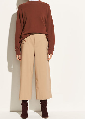High-Rise Crop Pant in Latte