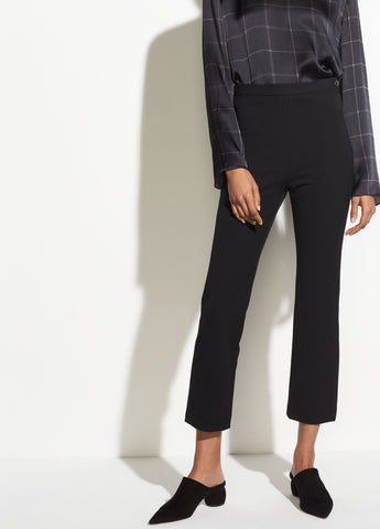 High Rise Crop Pant in Black