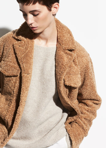 Sherpa Jacket in Desert Camel