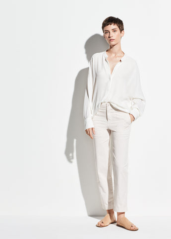 Washed Stretch-Cotton Pant in Lucite