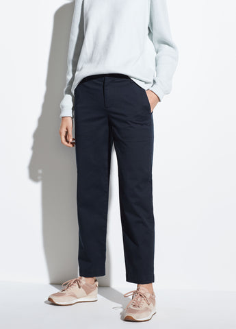 Washed Stretch-Cotton Pant in Coastal