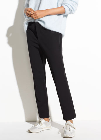 Side Strap Trouser in Black