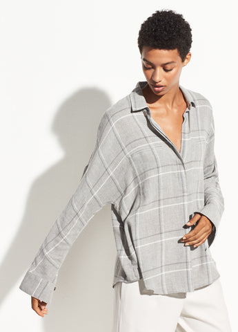 Bar Plaid Popover in Grey