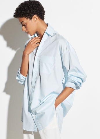 Oversized Classic Cotton Shirt in Cloud