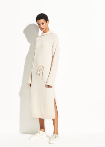 Wool Turtleneck Dress in Blush