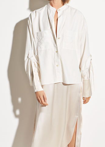 D-Ring Sleeve Utility Shirt in Optic White