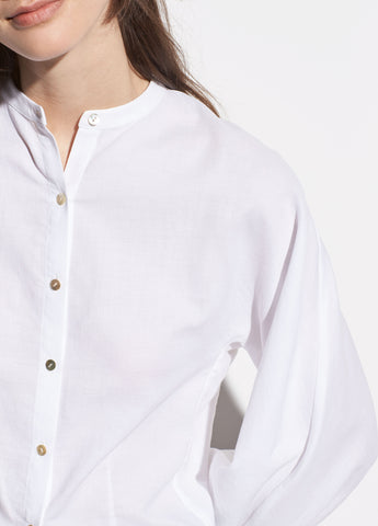 Full Sleeve Cotton Shirt in Optic White