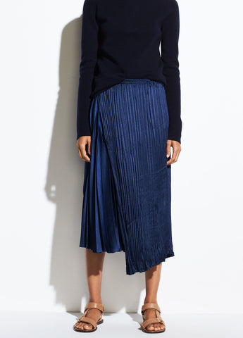 Mixed Pleat Skirt in Hydra