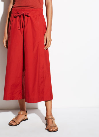 Cotton Culotte in Adobe Red