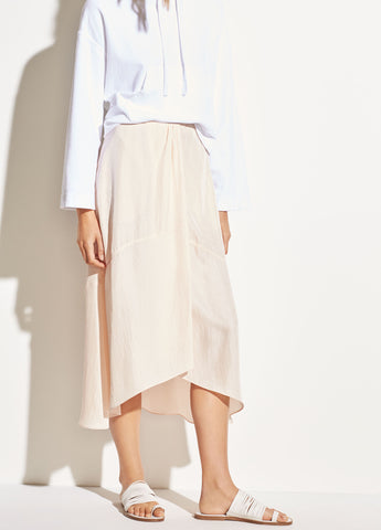 Twist Drape Skirt in Oat Blush