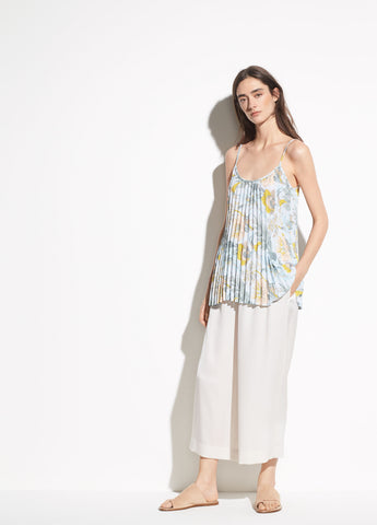 Marine Garden Pleated Cami in Surf Mist