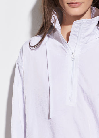 Half-Zip Windbreaker in Optic White