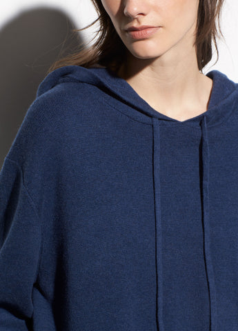 Oversized Cotton Hoodie in Ink Bay