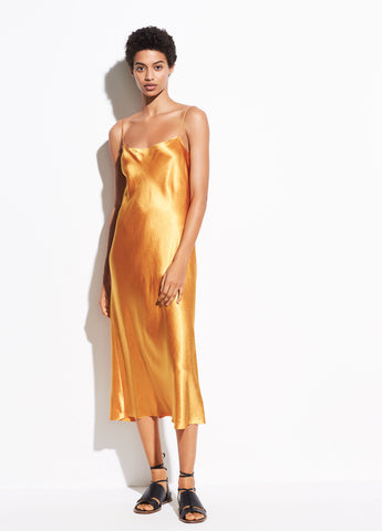 Satin Slip Dress in Sienna