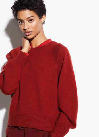 Raglan Sleeve Dolman in Heather Redwood