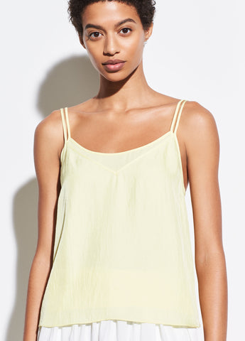 Double Layer Camisole in Lemon Glow