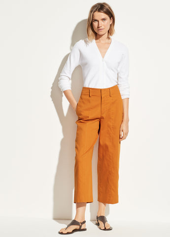 Cropped Trouser in Sienna