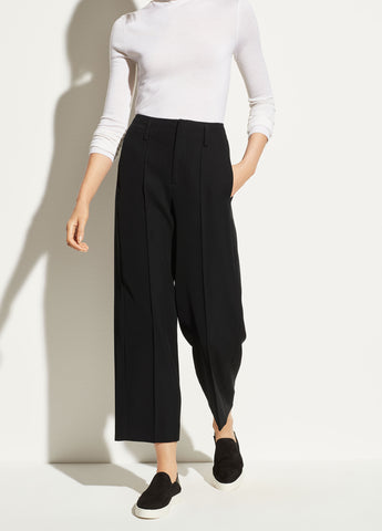 Straight Cropped Pant in Black