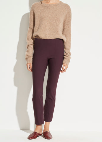Stitch Front Seam Ponte Legging in Dahlia Wine