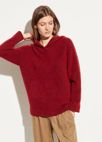 Oversized Pocket Hoodie in Cherry