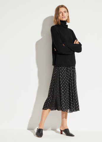 Mixed Dot Skirt in Black
