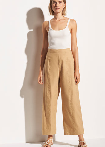 Cropped Wide Pant in Sun Khaki