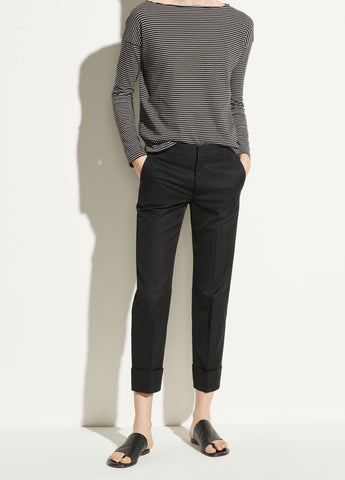 Cuffed Coin Pocket Trouser in Black