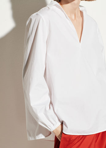 Swing Front Pullover Blouse in Optic White
