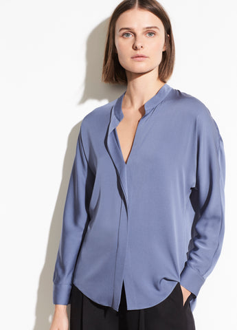 Double Front Blouse in Perrri Dust
