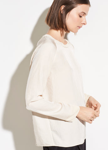 Rib Trim Long Sleeve in Fennel