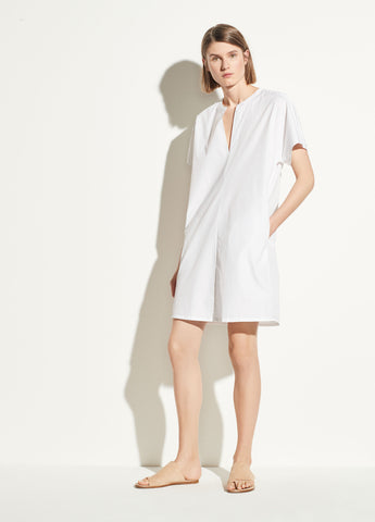 Popover Dress in White