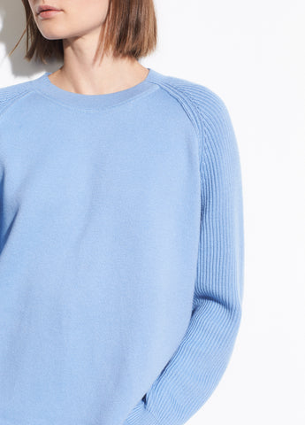 Ribbed Raglan Sleeve Crew in Palisades