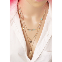 "Load image into Gallery viewer, ""Fly Free"" Multi-Layer Feather Pendant Necklace"