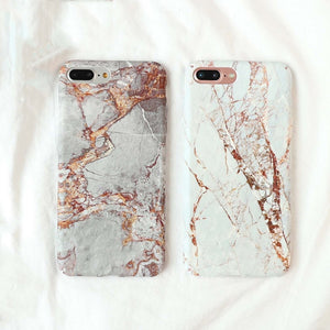 """Rose Gold AND Marble!"" Hard Cover iPhone Case"