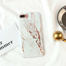 "Load image into Gallery viewer, ""Rose Gold AND Marble!"" Hard Cover iPhone Case"