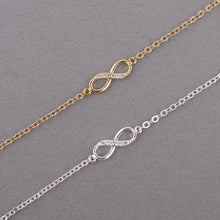 "Load image into Gallery viewer, ""Best Friends Forever"" Infinity Bracelet Silver / Gold"